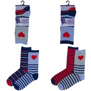 Ladies 2pack Design Socks (size Uk4-7) (SK489)